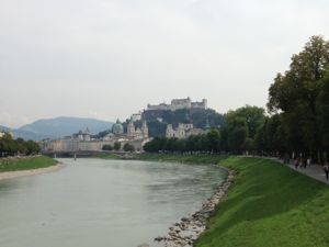 Salzburg Castle, viewed from the river