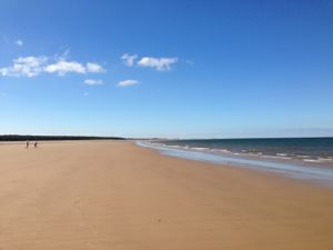 Holkham Beach in the sunshine