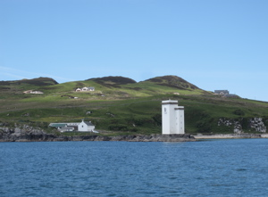 Port Ellen Lighthouse, photo from boat