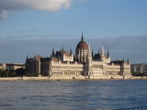 Budapest Parliament buildings, in sunshine