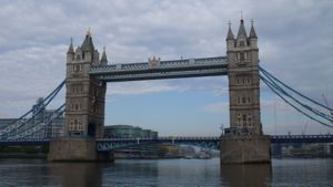 View of Tower Bridge from the Thames