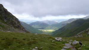 View down into Langdale valley