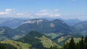 View over the mountains from the Salve Hohe