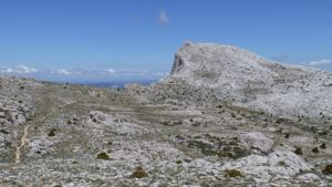 View over the limestone plateau of the Supramonte