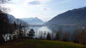 View over the lake to Interlaken